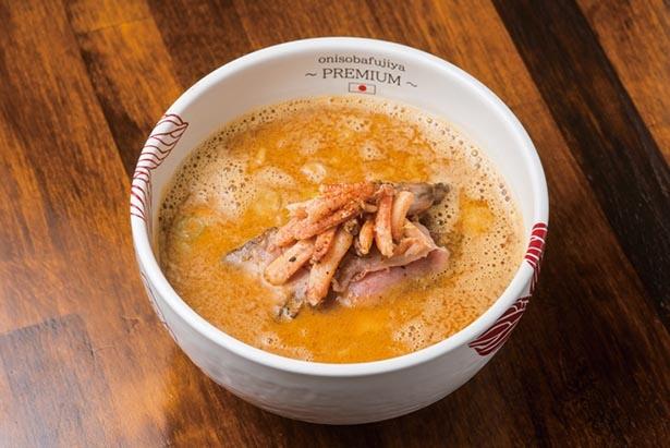【画像】ワタリガニ、紅ズワイガニ、ストーンクラブのカニトリプルスープが魅力の「蟹味噌らぁ麺」