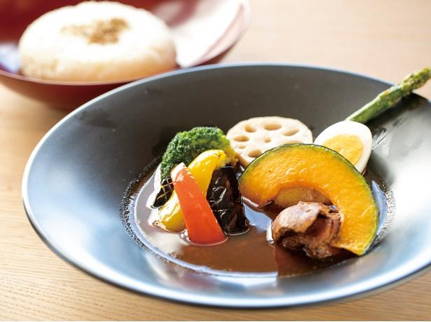 スープ カレー 野菜 素 揚げ