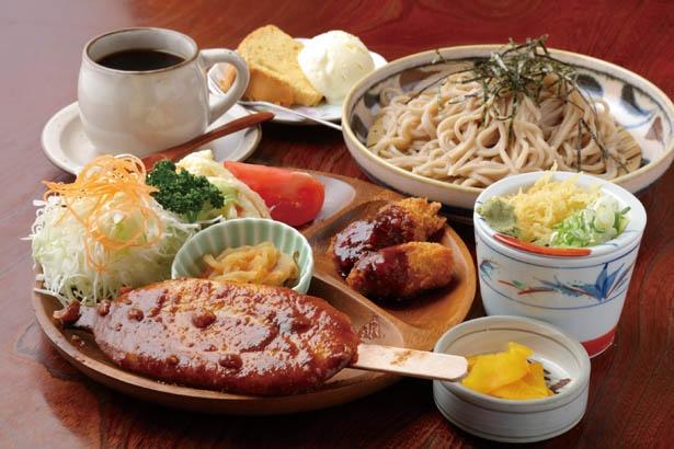土日のみ15食限定のお得感満載のメニュー「プレートランチ」(1000円) / 和かふぇ おきな