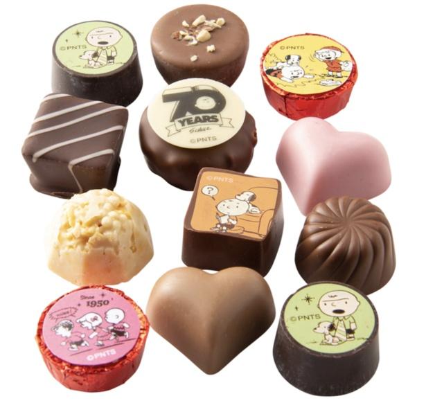 さまざまなカタチやフレーバーのチョコレートがズラリ