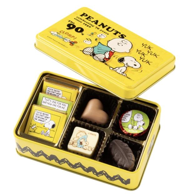 「スヌーピー PEANUTS チョコレート 90年代 アート缶」(1080円)