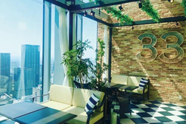 ニューヨークのペントハウスをイメージした、ラグジュアリーで開放的な空間/The 33 Tea&Bar Terrace