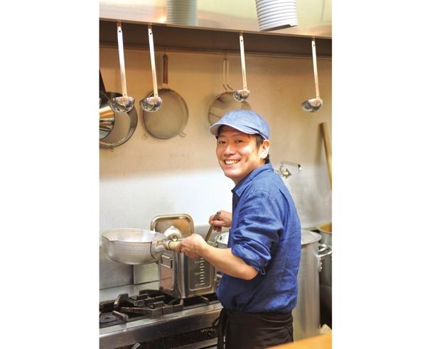 「ダシは上品な味わいに仕上げました」と、店主の外山剛史さん / らぁ麺 蒼空