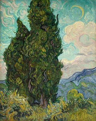 フィンセント・ファン・ゴッホ《糸杉》 1889年6月 油彩・カンヴァス 93.4 × 74cm メトロポリタン美術館 Image copyright