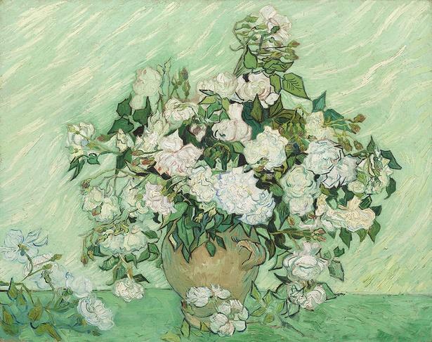 フィンセント・ファン・ゴッホ《薔薇》 1890年5月 油彩・カンヴァス 71 × 90cm ワシントン・ナショナル・ギャラリー