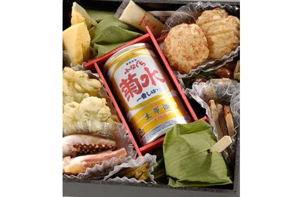 酒どころ新潟県新発田の「酒楽弁当」(1250円)