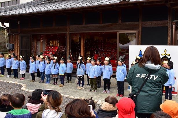 【写真】園児達の歌声と踊りが魅力のオープニングセレモニーは必見