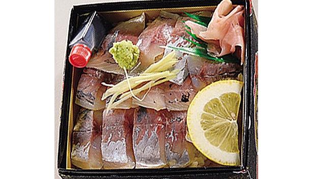 地元でもなかなか食べられない!?「あじ寿司」(1000円)