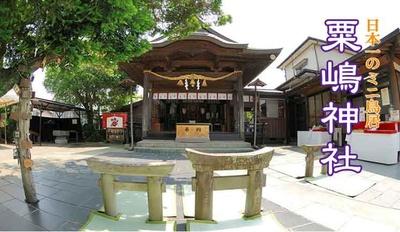 ミニ鳥居で有名な熊本県宇土市の粟嶋神社