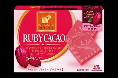 【写真】森永製菓「カレ・ド・ショコラ<ルビーカカオ>」ほか、各社の商品一挙紹介