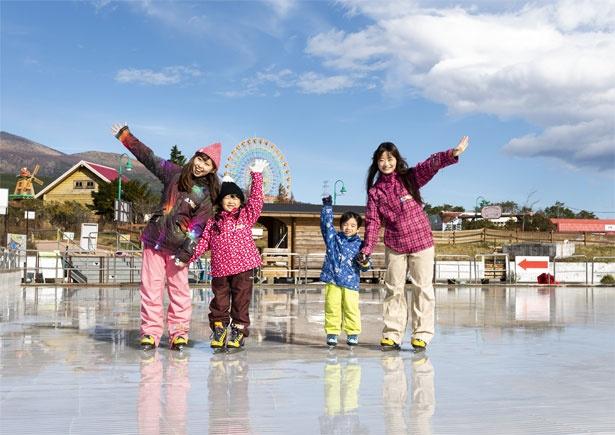 子供も初心者も安心してスケートを楽しめる