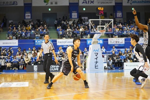 【写真】熊谷航(三河)。新人賞候補の本命となるためにもチームを勝利に導きたい