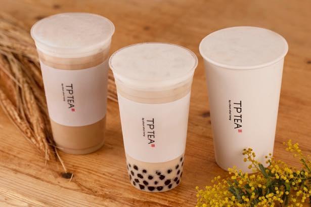 【写真】TP TEA初のノンカフェインティー「タピオカ麦茶ラテ」