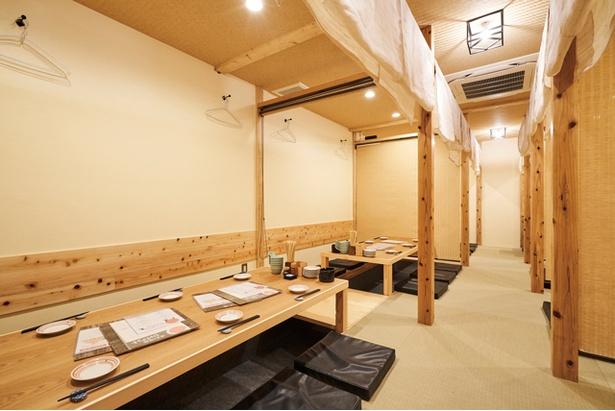 2Fは2~50人程度対応する個室を備えている / 博多の酒場 ジャイアント