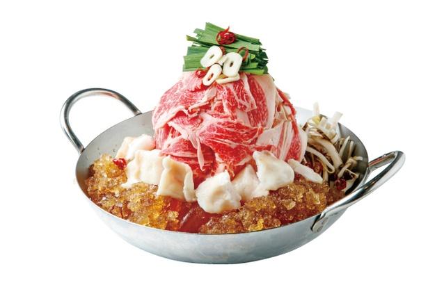 和牛肉もつ鍋1人前(2180円)。鍋の注文は2人前~ / 博多店屋町 ゾノブリアン