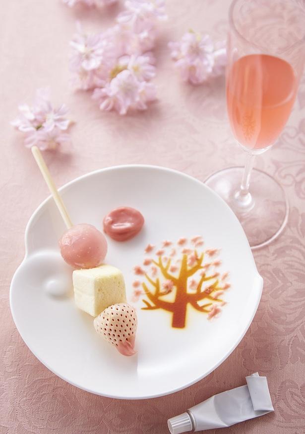 """【写真】""""自分だけの桜""""をチョコガナッシュで描きながら味わう、斬新なスイーツが登場!"""