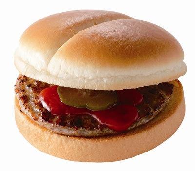 100円メニュー「ハンバーガー」