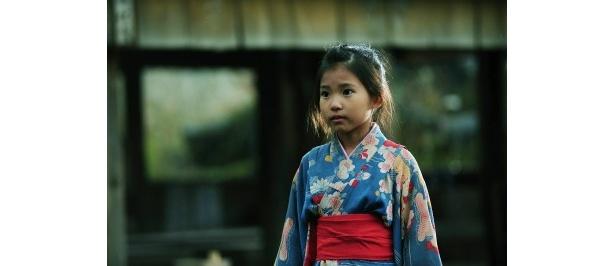 『さや侍』で主人公・さや侍の一人娘・たえ役に扮した熊田聖亜