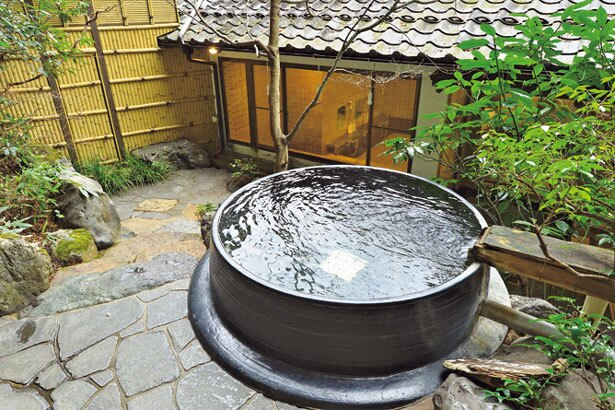 現在ほかの浴場の工事のため(終了予定は3月)、湯殿を貸切で利用。工事終了後は男女別に/京の民宿 大原の里