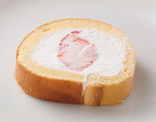 「イチゴのロールケーキ」は、いちご自体のおいしさがよくわかる1品
