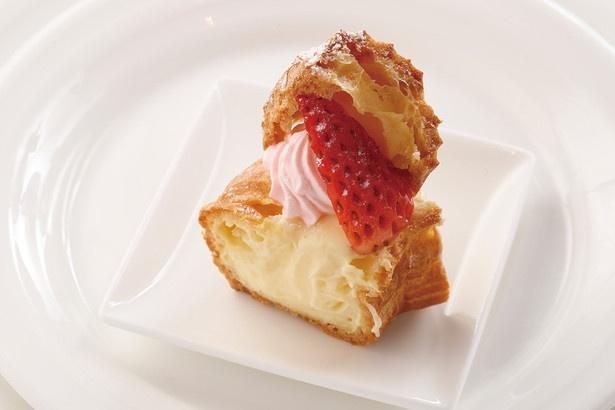 甘味と酸味のバランスがいい、愛知県産章姫が味のアクセントに「パリブレスト」