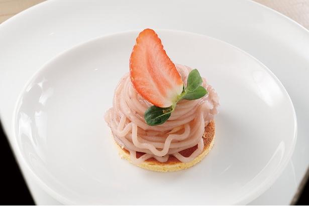 「イチゴのモンブラン」