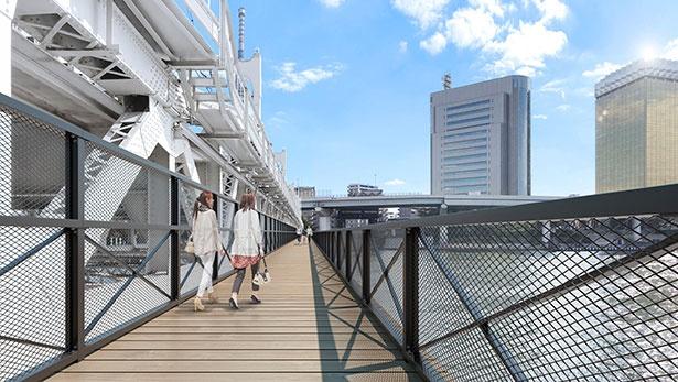 【写真】浅草~スカイツリー間を歩ける新設歩道橋「すみだリバーウォーク」