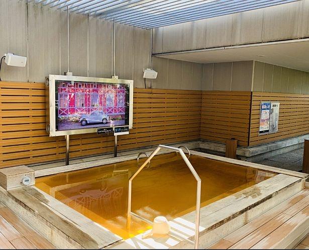 オリジナル入浴剤を使用したフィンランドバスを用意