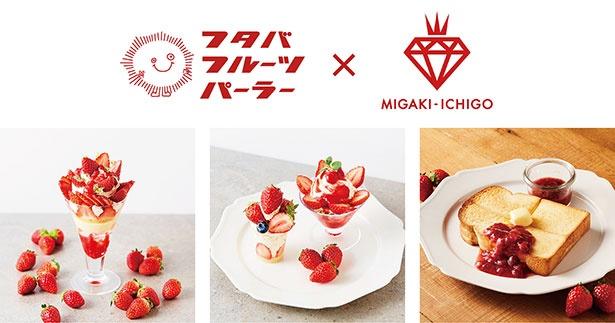 「ミガキイチゴ」を使ったスペシャルメニューが勢揃い!