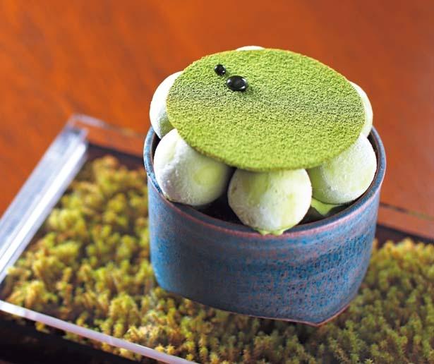 【写真を見る】京の盆栽(1420円・税込)。和束の抹茶で作る自家製アイスなど、京都の抹茶をたっぷりと使用/FUKUNAGA901