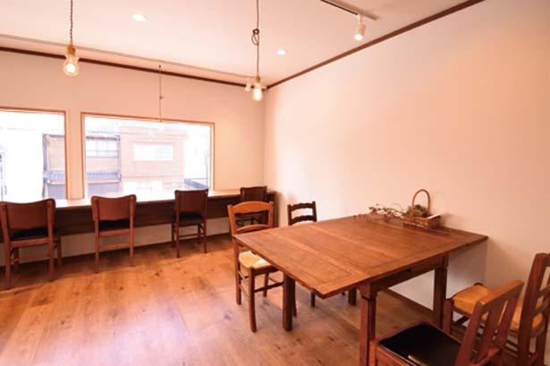 千本通沿い。2階には買ったパンを楽しめるイートインスペースもできる予定/KYOTO KEIZO BAKERY パンとパティシエ