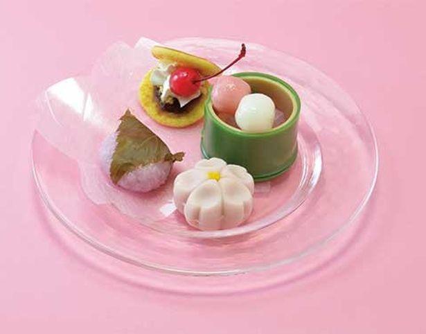 和菓子がいっぱいの「桜ミクのお花見甘味セット」