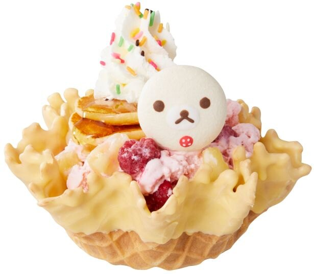 【写真】コリラックマとパンケーキがのったアイスクリーム