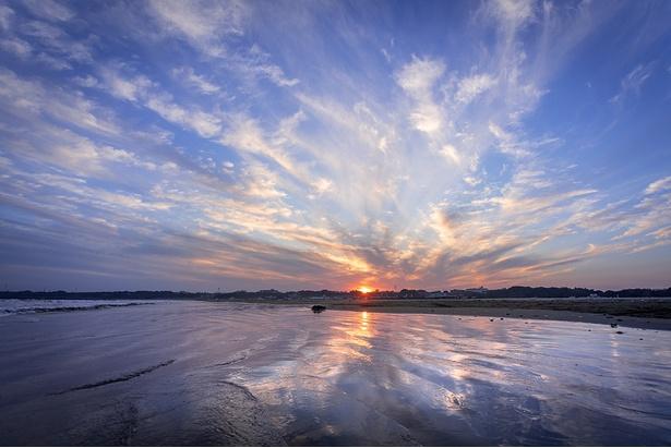 アクティビティ賞を獲得した「水鏡」(投稿者:urunori302)【大洗サンビーチ、茨城県大洗町】