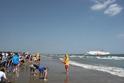 広大なビーチで開放感抜群
