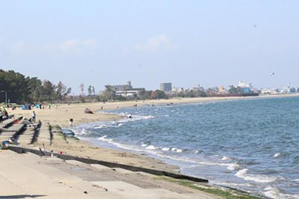 県立公園に指定されている風光明媚な海岸