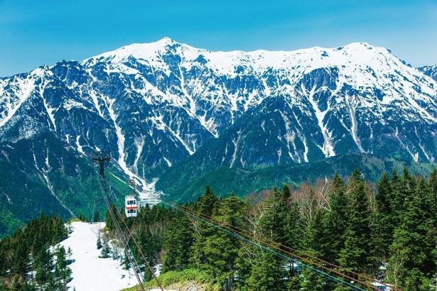 展望台から西穂高岳や槍ヶ岳のパノラマを楽しむ / 新穂高ロープウェイ