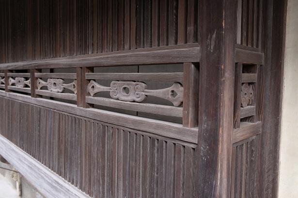 竹原格子は各家でデザインなど違うのが面白い