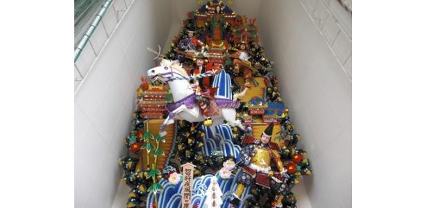 櫛田神社にある飾り山 表「智将疾風関ヶ原」