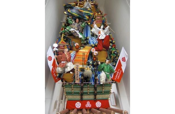 櫛田神社にある飾り山 見送り「神話天之岩戸譚」