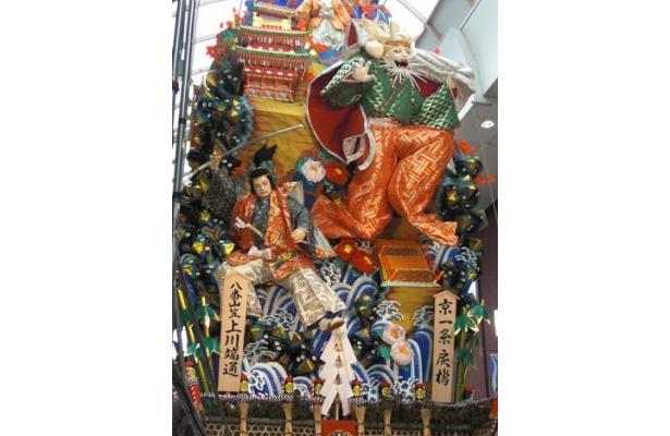 上川端通にある飾り山 表「京一条戻橋」