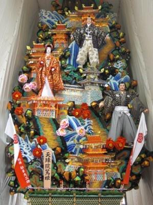 博多リバレインにある飾り山 見送り「天璋院篤姫」