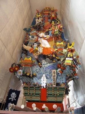 東流の飾り山 表「天下繚乱戦国陣」