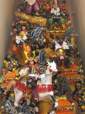 中洲流の飾り山 表「攻防千早城」