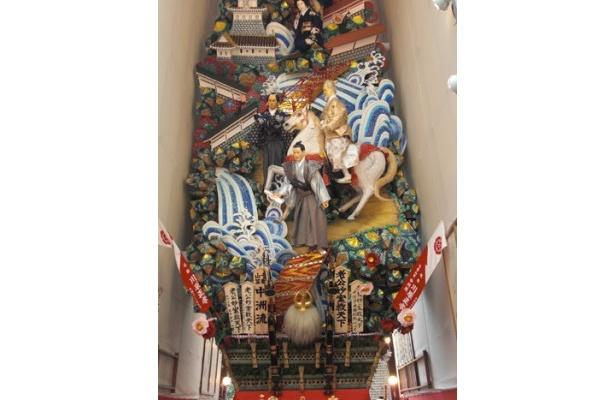 中洲流の飾り山 見送り「老公妙案救天下」