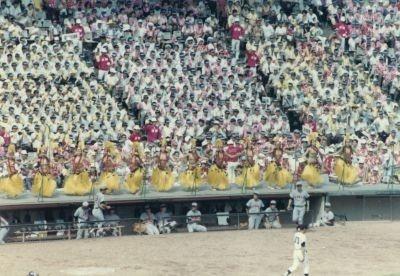 45年前の球場の様子