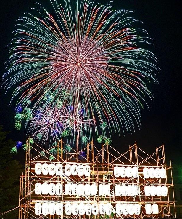 高崎まつり初日の夜空をカラフルに彩る / 高崎まつり大花火大会
