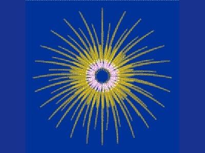 【割物(菊谷牡丹など打ち上げ花火の代表格)】 八重芯菊(やえしんぎく): 菊の中心に小さな菊が三重に現れるものを八重芯菊と呼ぶ。日本花火の技術の高さの象徴。