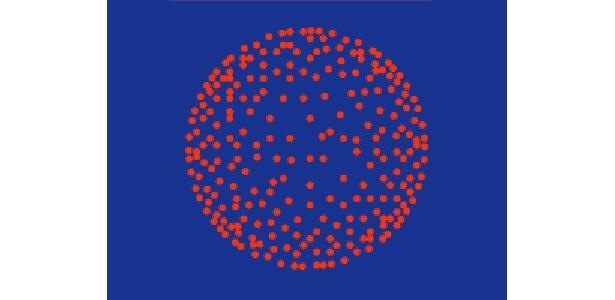 【割物(菊谷牡丹など打ち上げ花火の代表格)】 牡丹: 構造的には菊と同じで、星が尾を引かず丸い牡丹の花を描き出す。