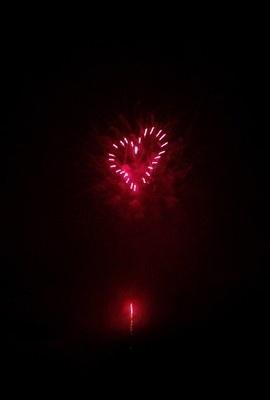 ハートマークの花火